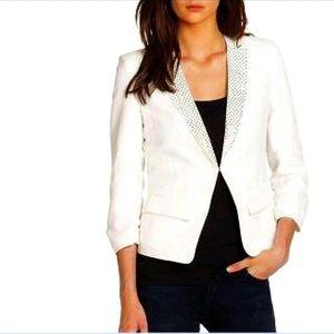 Rebecca Taylor white studded blazer, size 8